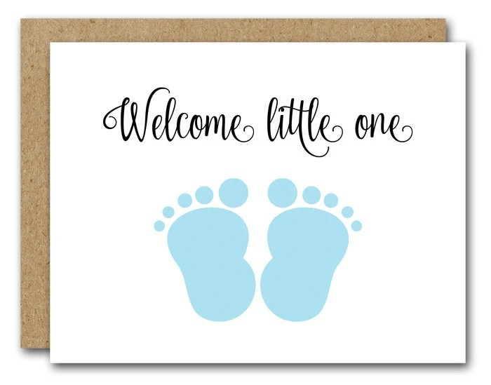 PRINTABLE New Baby Card Congratulations Baby Card Baby Etsy