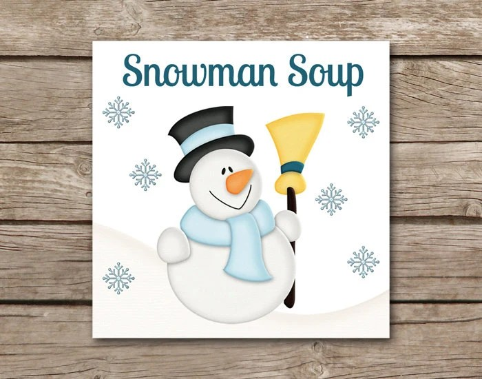 Snowman Soup Tag INSTANT DOWNLOAD Snowman Soup Gift Tag Etsy