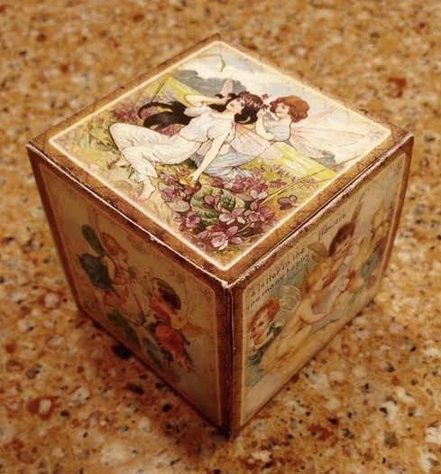 Fairies -Delightful Decorative Cube/Gift Box Template- INSTaNT