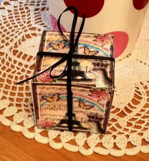 EiFFEL ToWER Decorative Cube/ Box Template- Clever Vintage Art