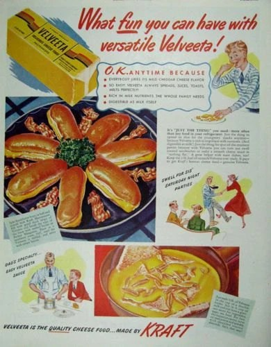 Cuisine Royale Brightness 1950 S Velveeta Cheese Food Kraft Kitchen Decor Wall Art E111