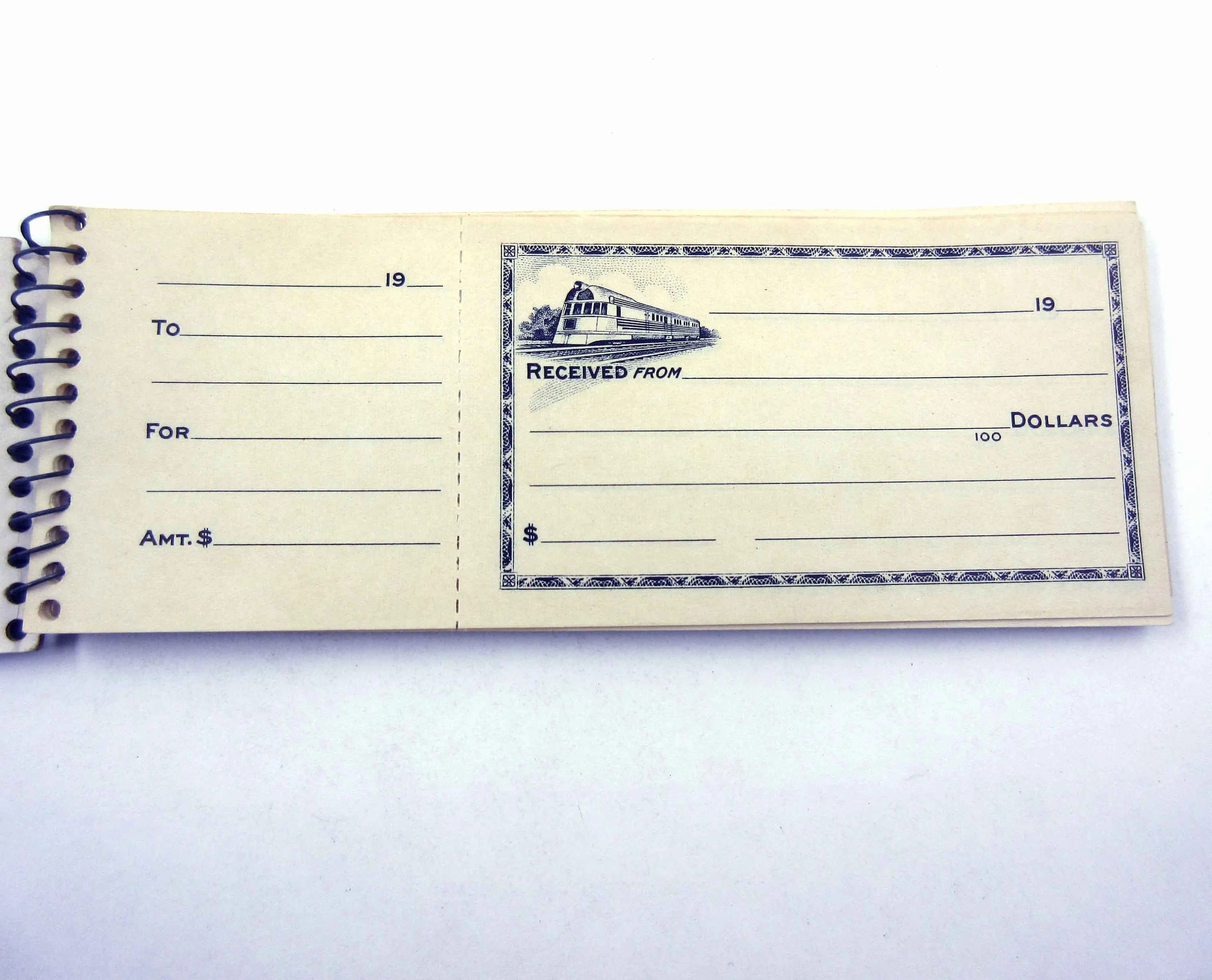 Vintage Spiral Money Receipts with Stubs Book Old Train Etsy