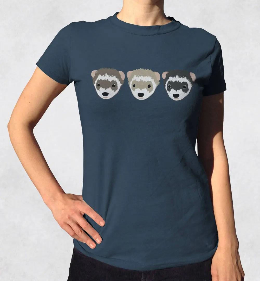 3 Ferrets shirt Cute animal shirts Ferret lover tshirt Etsy