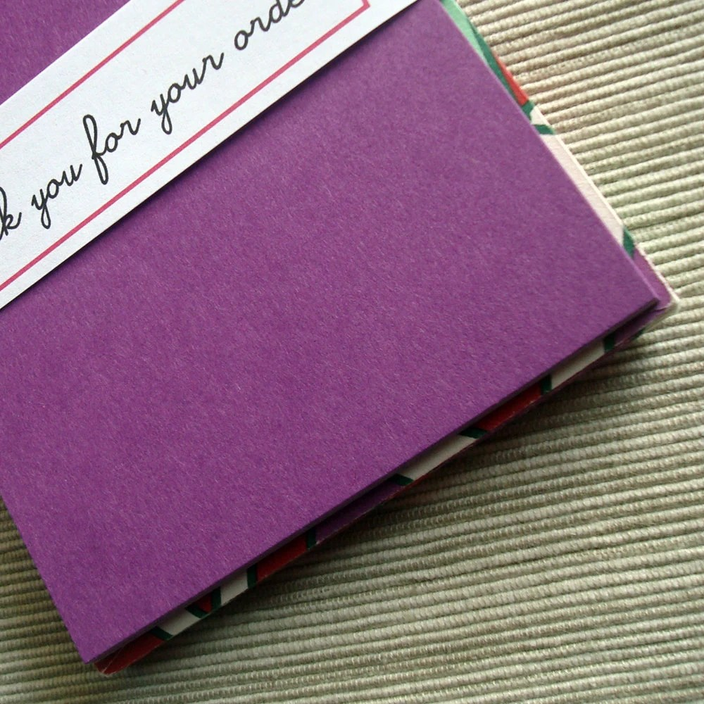 Christmas Card Holiday Greeting Solid Purple Note Card with Etsy