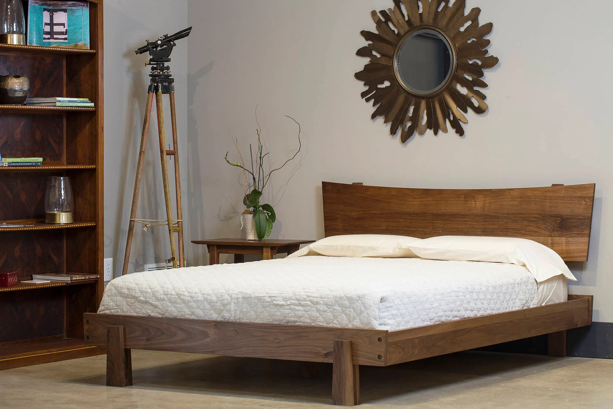 Japanese Inspired Beds Solid Wood Bed Frame Headboard Horizon Bed