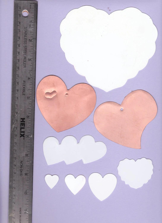 Heart shaped templates 8 templates card making scrap Etsy