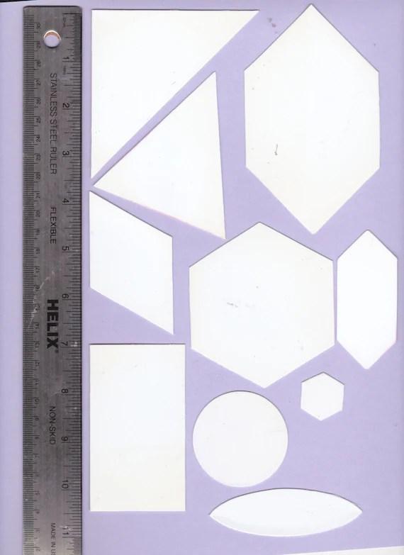 Shapes templates 10 templates card making scrap booking Etsy