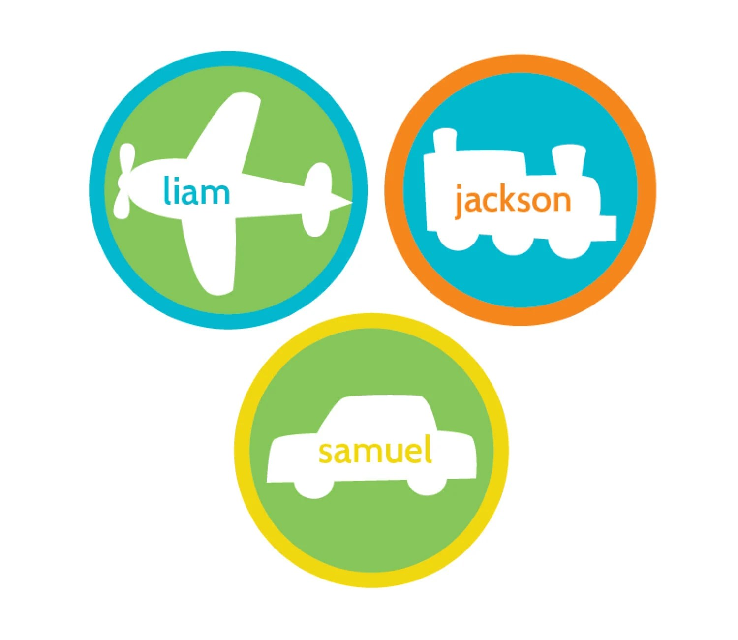 Planes, Trains and Automobiles personalized printable for stickers