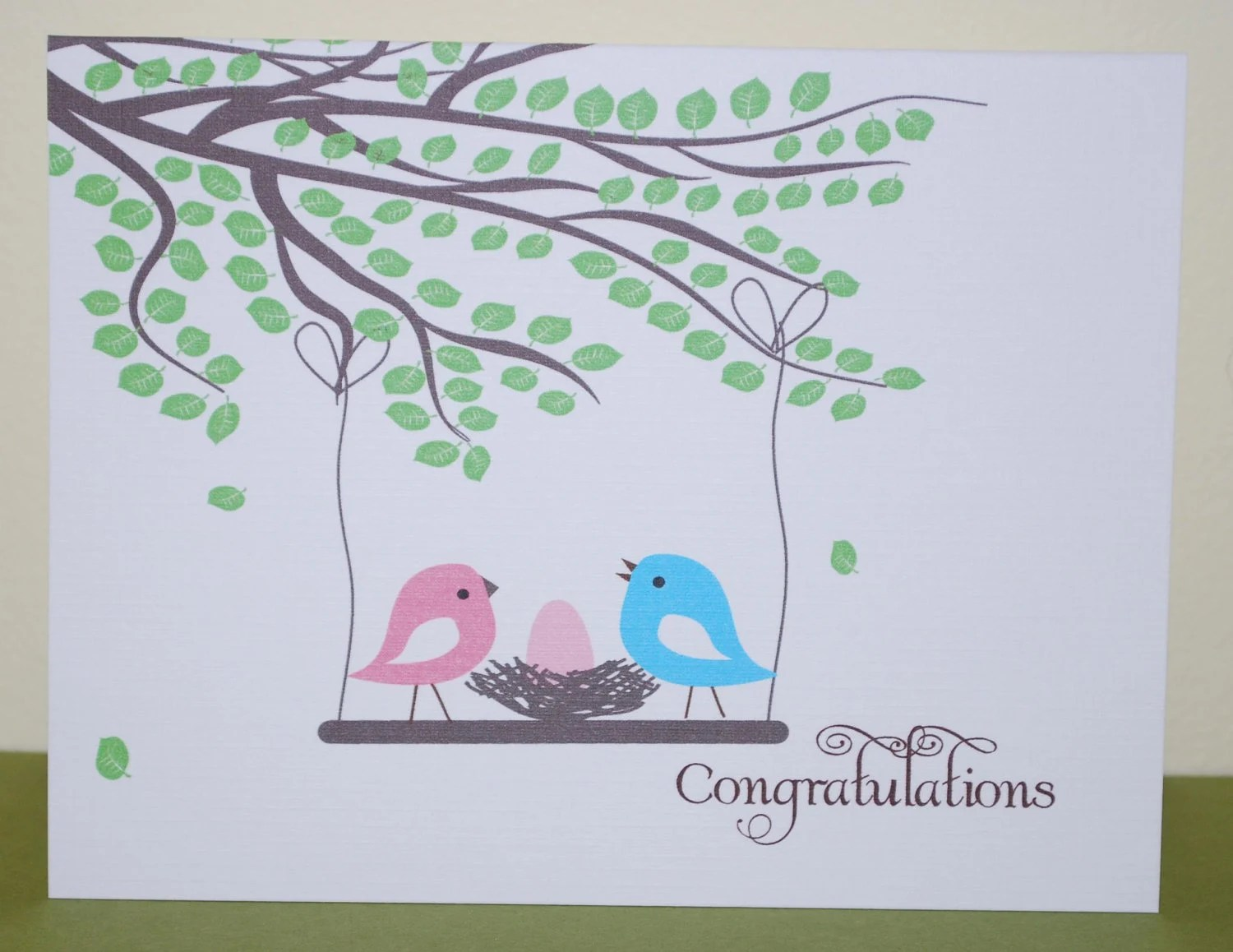 Congratulations New Baby Card Personalized Baby Card Etsy