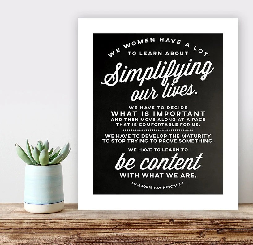 LDS Relief Society Simplify Poster printable lds quote Etsy - simplify quote