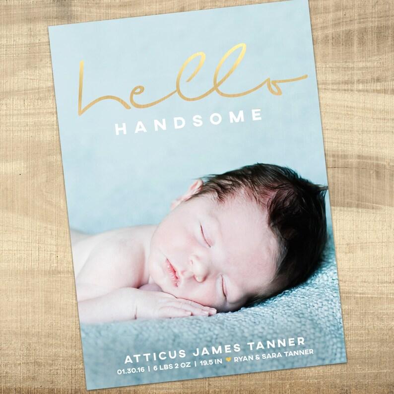 Birth announcement photo card photo birth announcement birth Etsy