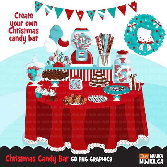 Christmas Candy Clipart Buffet bar display, sweets, lollipop, candy