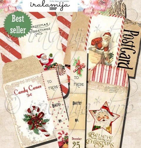 Printable Christmas Envelopes / CHRISTMAS ENVELOPES / Etsy