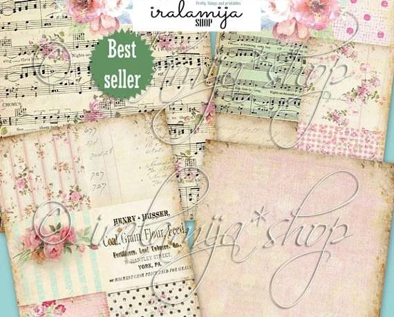 Printable Paper / BELLA ROSE BACKGROUNdS / Digital Images / Etsy