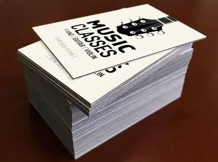 Black EDGE Business Cards Set of 1000 32PT Uncoated Etsy