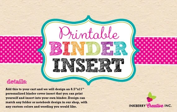 Printable Binder Cover Inserts towelbars