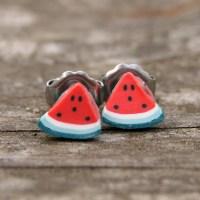 Miniature Food Jewelry Fruit Slice Earrings Sweet and ...