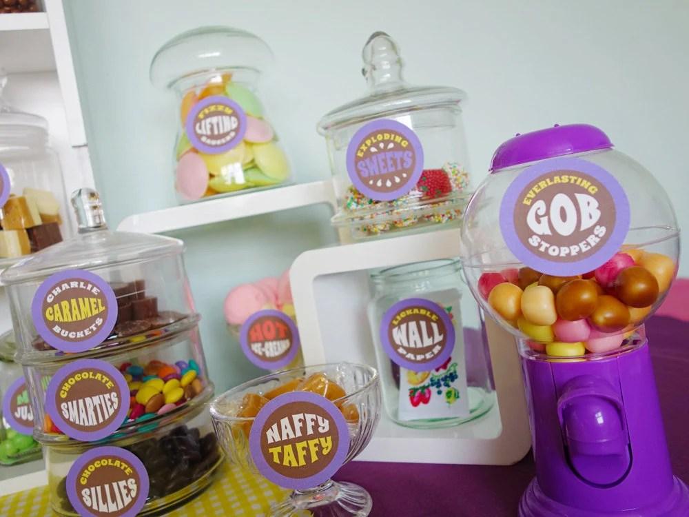 Willy Wonka candy jar labels Willy Wonka birthday party Wonka Etsy