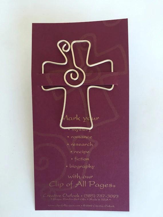 Cross Bookmark Religious Gift Pastor Gift Teacher Gift Etsy