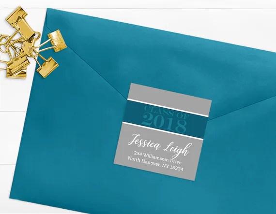 Class of 2018 Return Address Labels, Printable Graduation Address