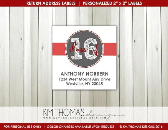 Return Address Label Printables  Class of 2018 Return Address