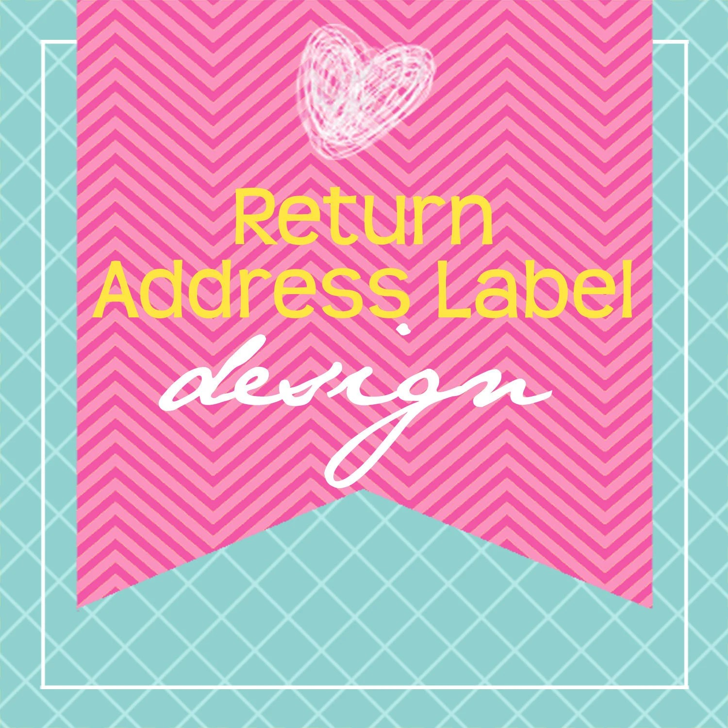 Custom Printable Return Address Label Designby KM Thomas Etsy
