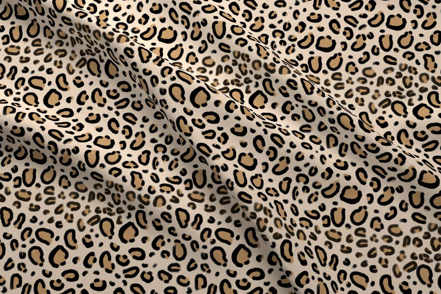 Luipaard Print Interieur Animal Print Fabric Leopard Print Tan Natural Cheetah Safari Print By Charlotte Winter Cotton Fabric By The Yard With Spoonflower