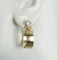 EARRING JACKETS Gold Dangle Hoop Diamond Jackets Earring ...