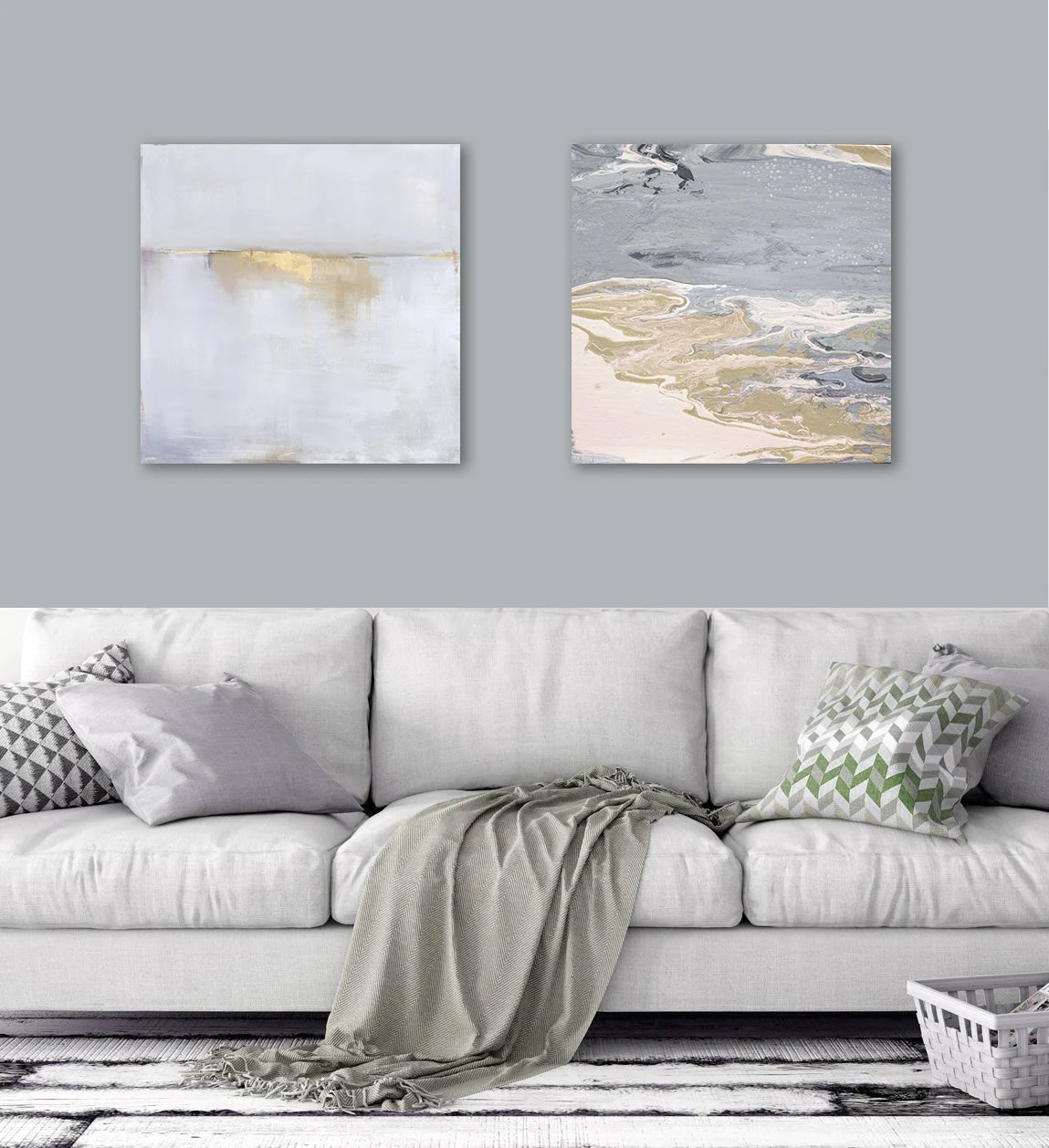 Abstract Art Prints On Canvas 2 20x20 Abstract Art Prints Canvas Large Wall Art Abstract Landscape Pour Painting Grey Gold Art Best Selling Item Set Of 2 Prints