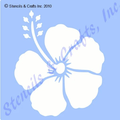 3 HIBISCUS STENCIL TROPICAL flower template templates Etsy