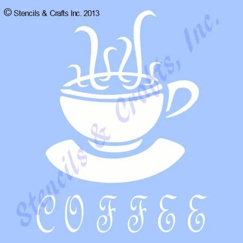 4 COFFEE CUP STENCIL craft stencils cups template tea Etsy