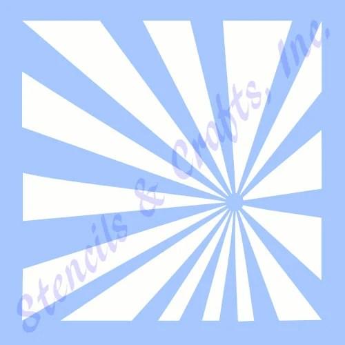 STARBURST SUNBURST STENCIL stencils background template rays Etsy