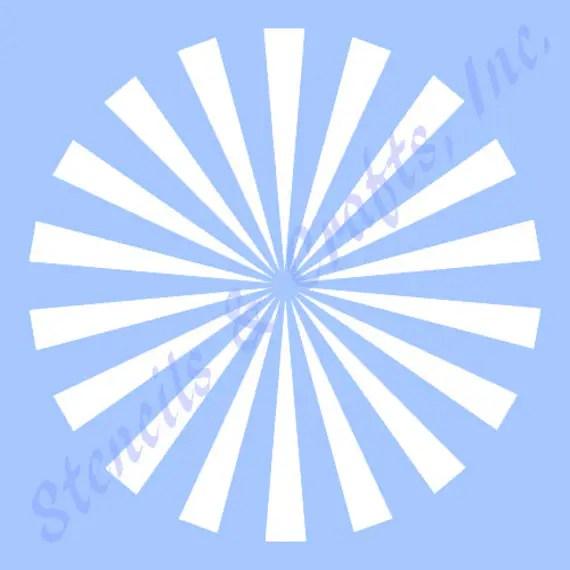 105 STARBURST STENCIL stencils background template rays Etsy - starburst templates