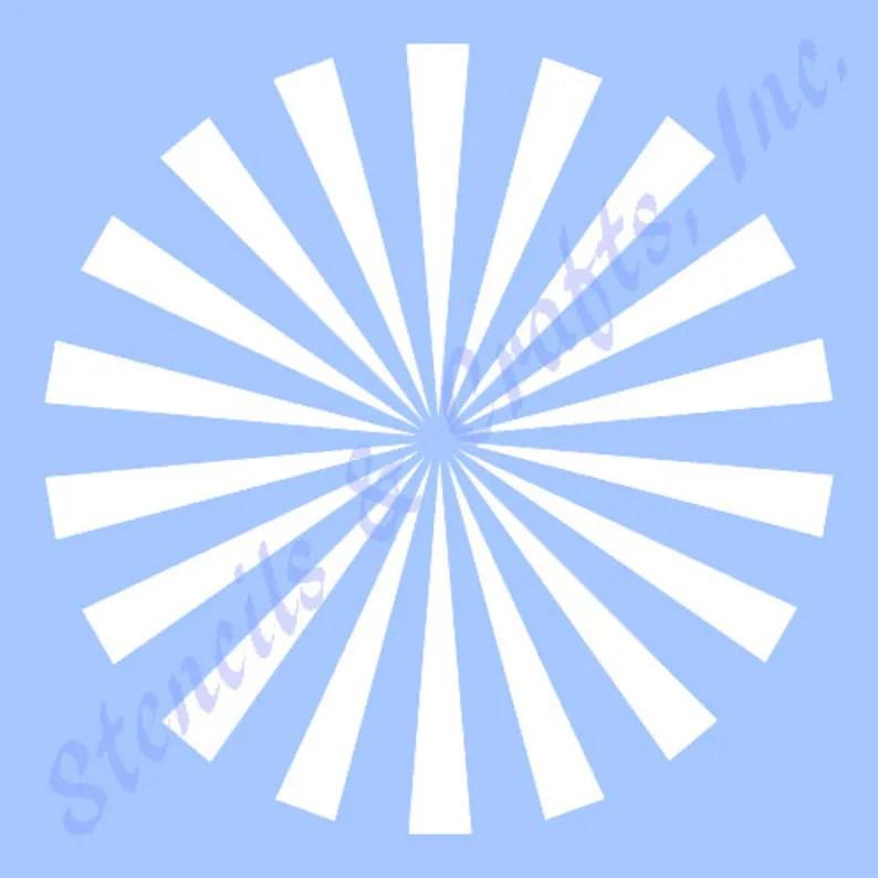 105 STARBURST STENCIL stencils background template rays Etsy