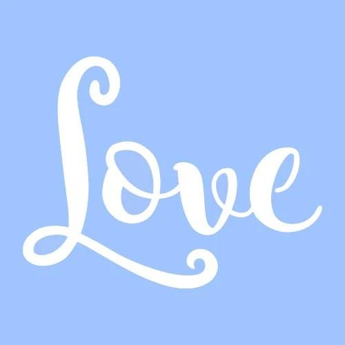 7 LOVE STENCIL STENCILS template templates craft word Etsy