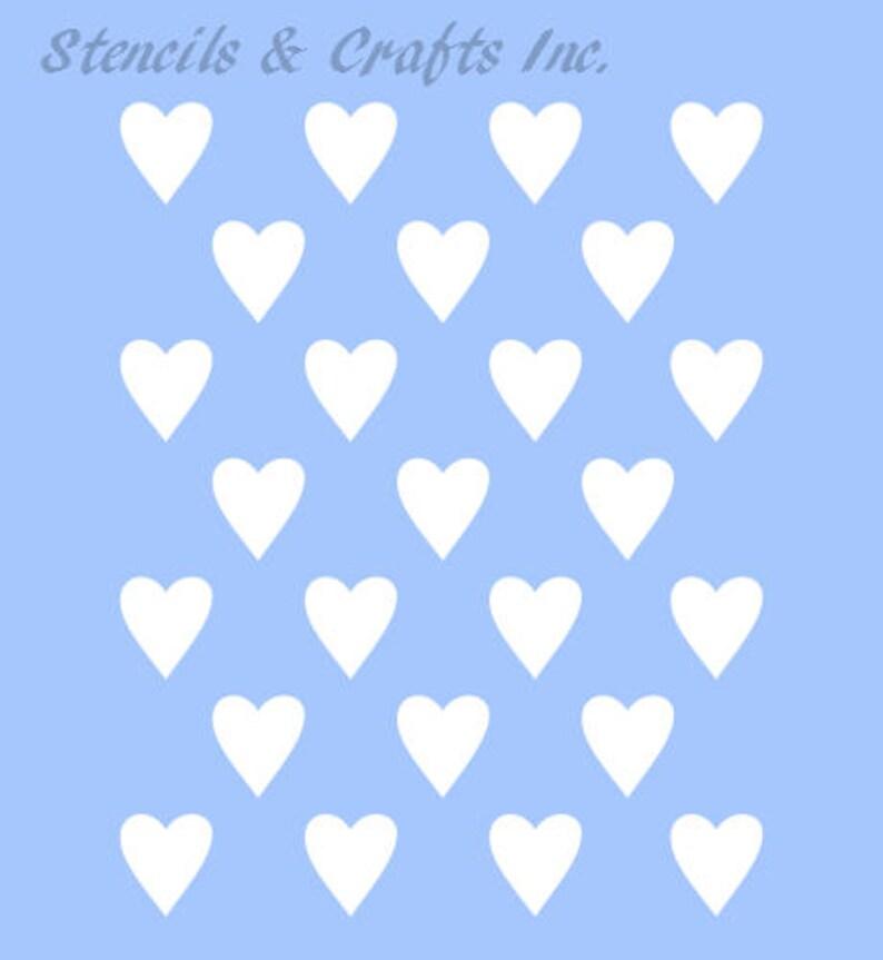 1/2 HEART STENCIL TEMPLATE hearts mini template Etsy