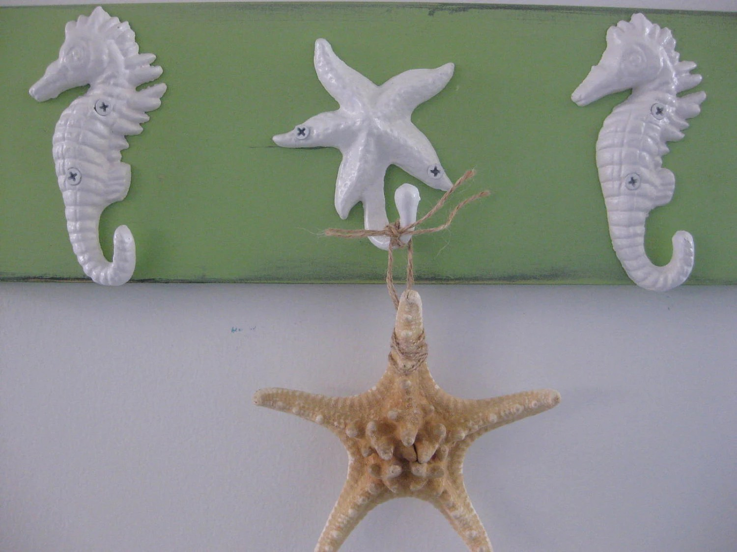 Nautical House Decor Pool Towel Rack Hot Tub Outside Shower Starfish Seahorses Towel