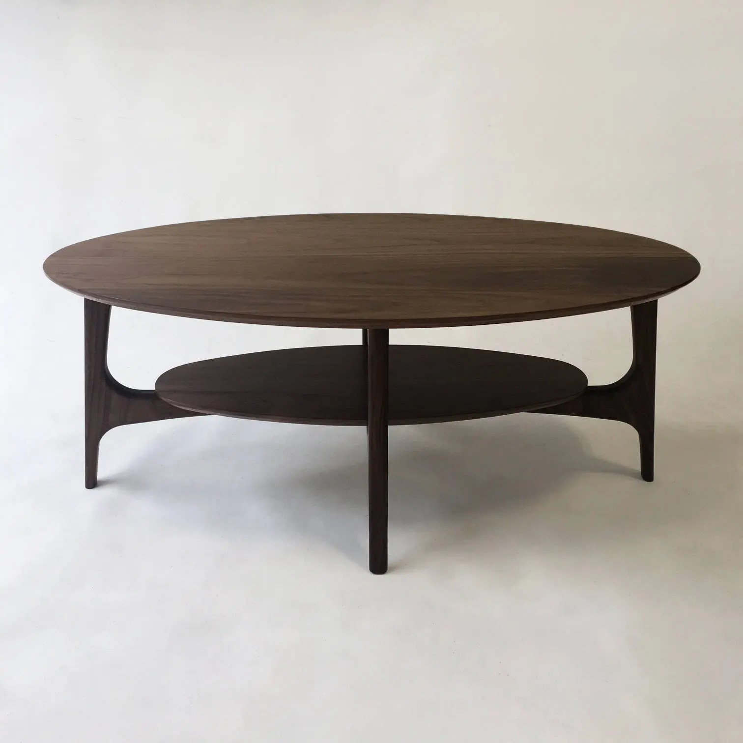 Beautiful Coffee Table Mid Century Modern Coffee Table With Shelf Solid Walnut Cocktail Table Mcm