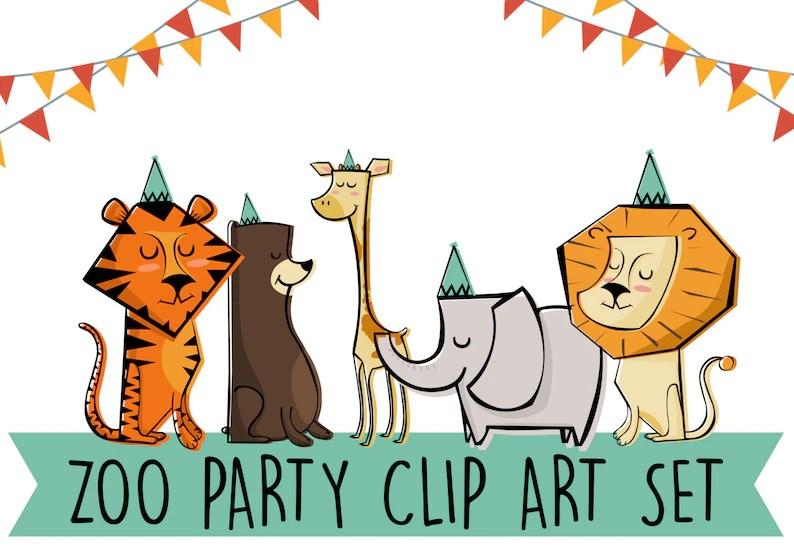 Printable ZOO Animals Clip Art Set Print at home Edit yourself Etsy