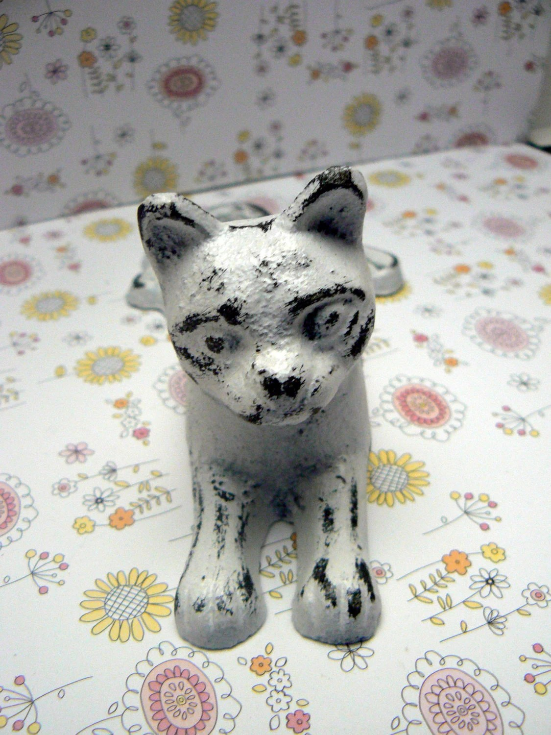 Animal Door Stops Uk Cat Door Stop Cast Iron Shabby Elegance White White Distressed Kitty Kitten Doorstop Prop Animal Feline Vet Office Pet Lover Gift Idea