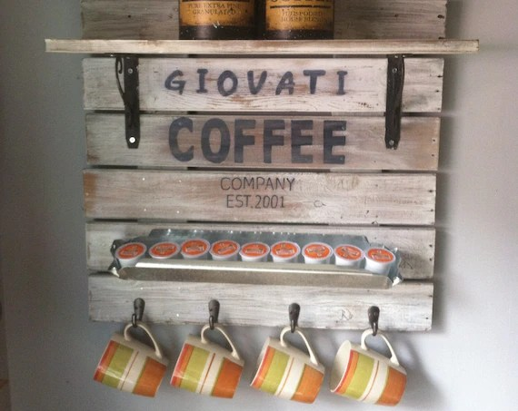 Farmhouse Coffee Shop Rustic Home Decor Just For U Personalized Gifts