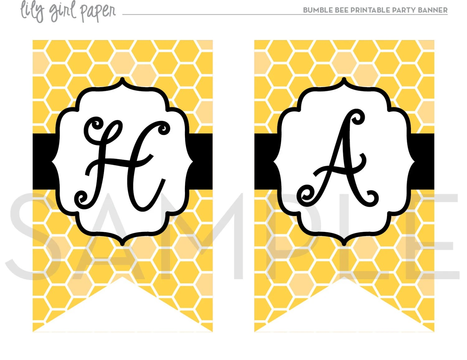 Bumble Bee Party Banner, Bumble Bee Birthday Bunting, High Chair