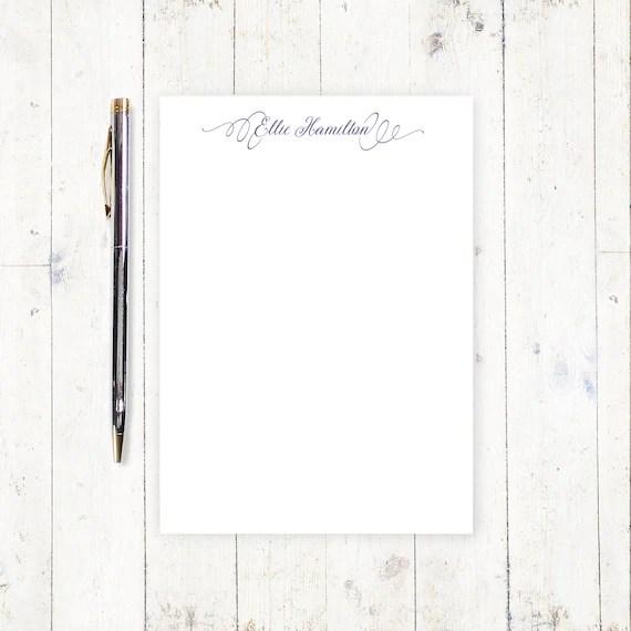 personalized notePAD PERFECTLY ELEGANT feminine stationery Etsy