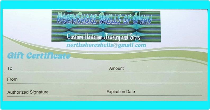 Gift Certificate Hawaiian gifts ocean decor school crafts Etsy