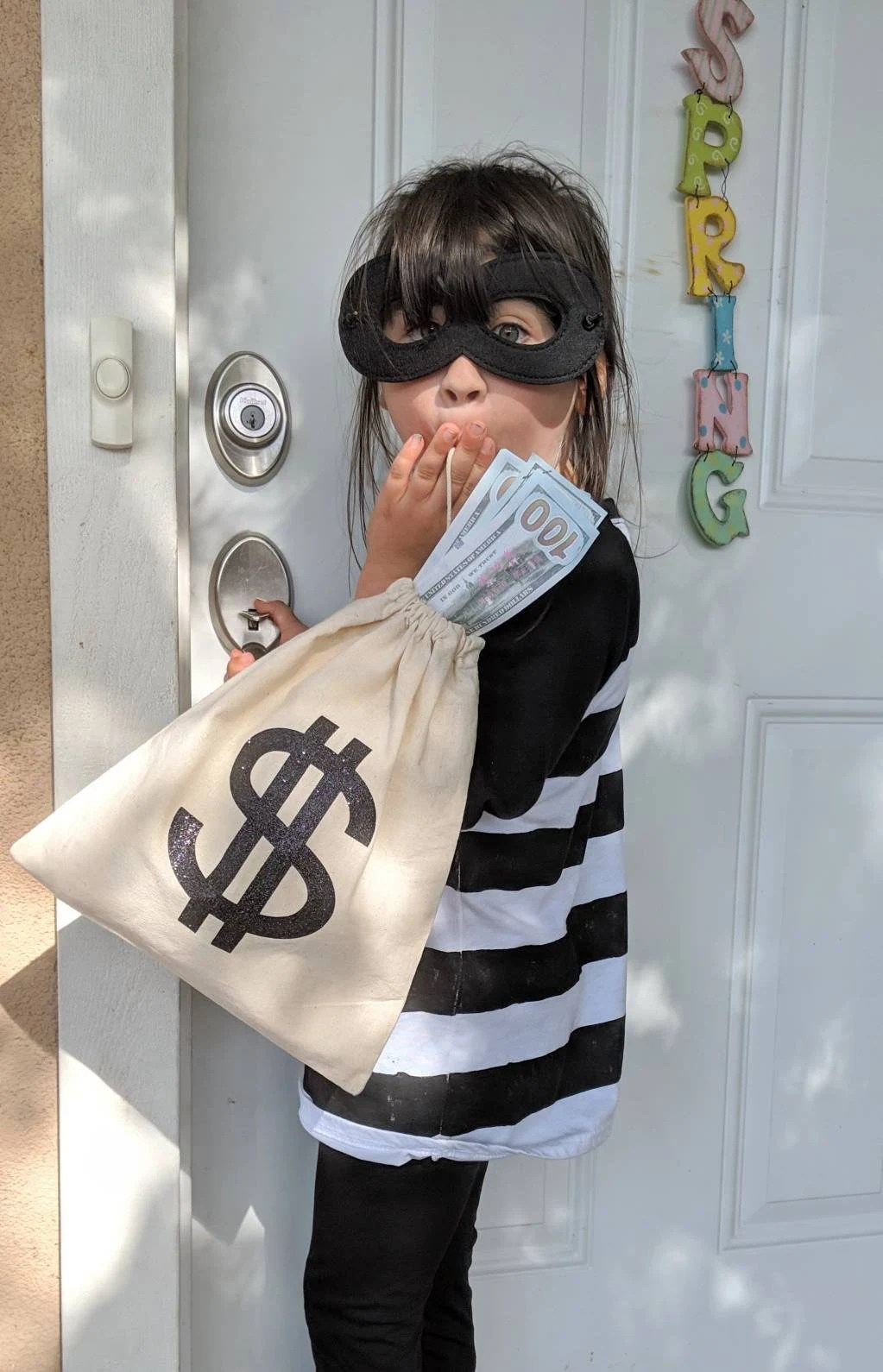 Diy Bank Robber Shirt Children S Burglar Costume Bank Robber Costume Cat Burglar Costume Bandito Costume Girls Costume Boys Costume Halloween Costumes