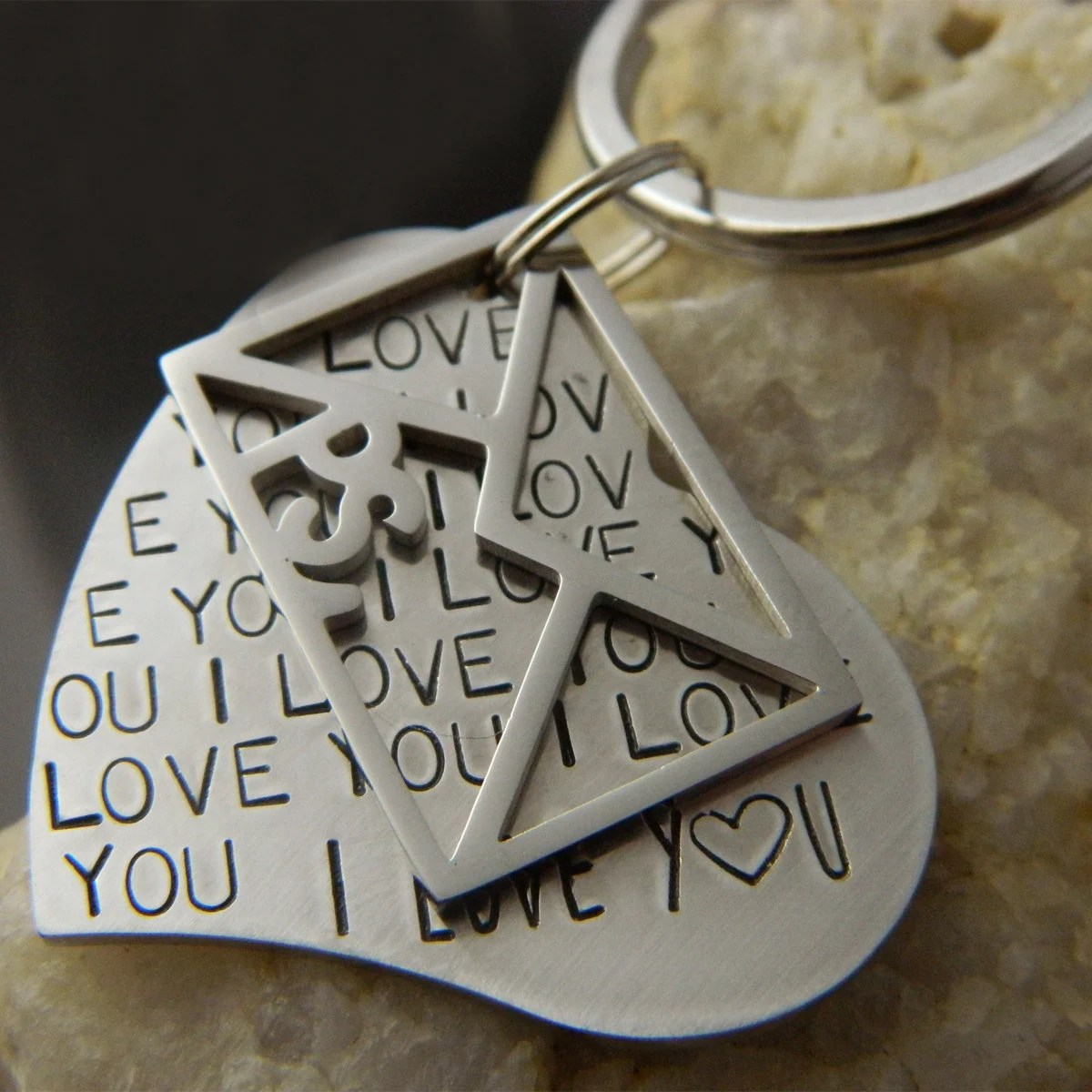 PS I Love You Letter Long Distance Relationship Keychain Etsy