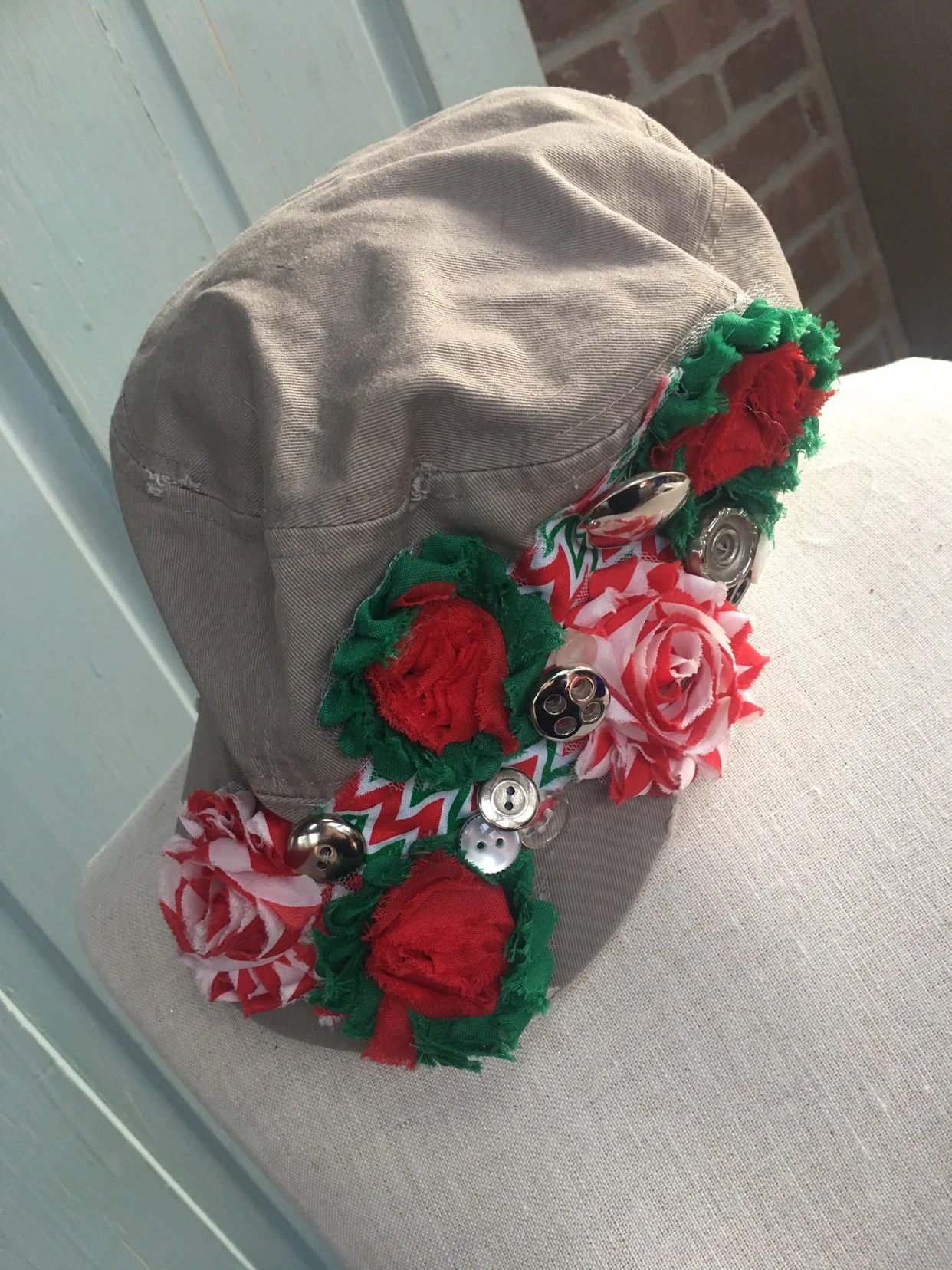 Bad Shabby Chic Shabby Chic Embellished Hat Baseball Cap Shabby Chic Great For Bad Hair Days