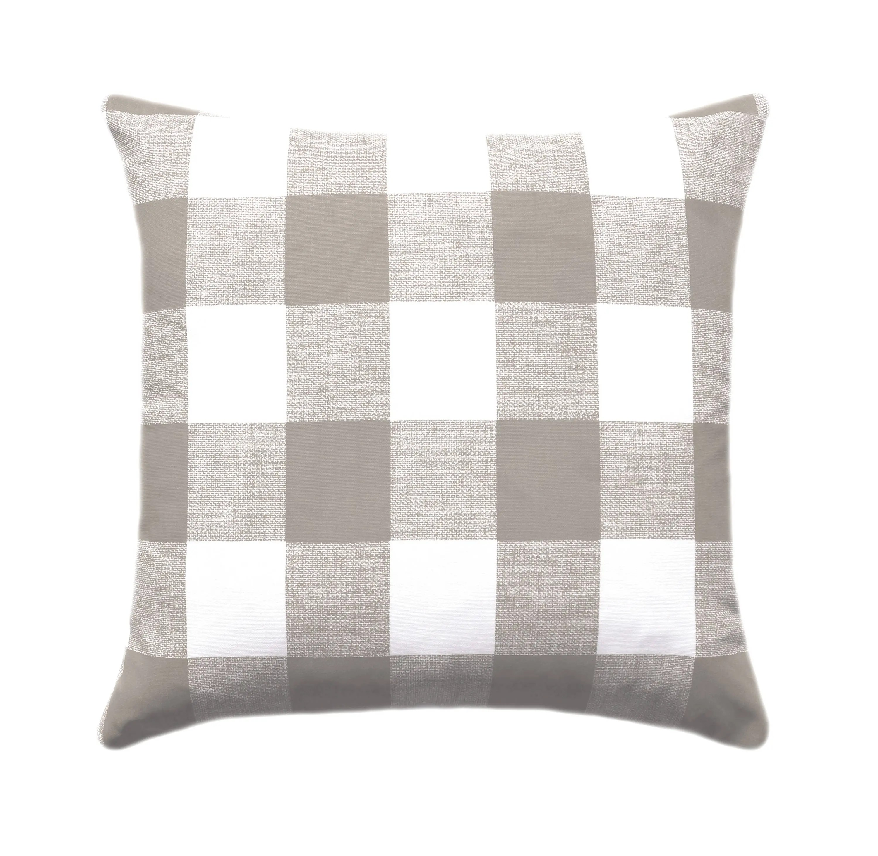 Plaid Taupe Taupe White Buffalo Check Throw Pillows Plaid Taupe Cushion Taupe Ecru White Couch Pillow Tan Decorative Throw Pillow Check Pillow