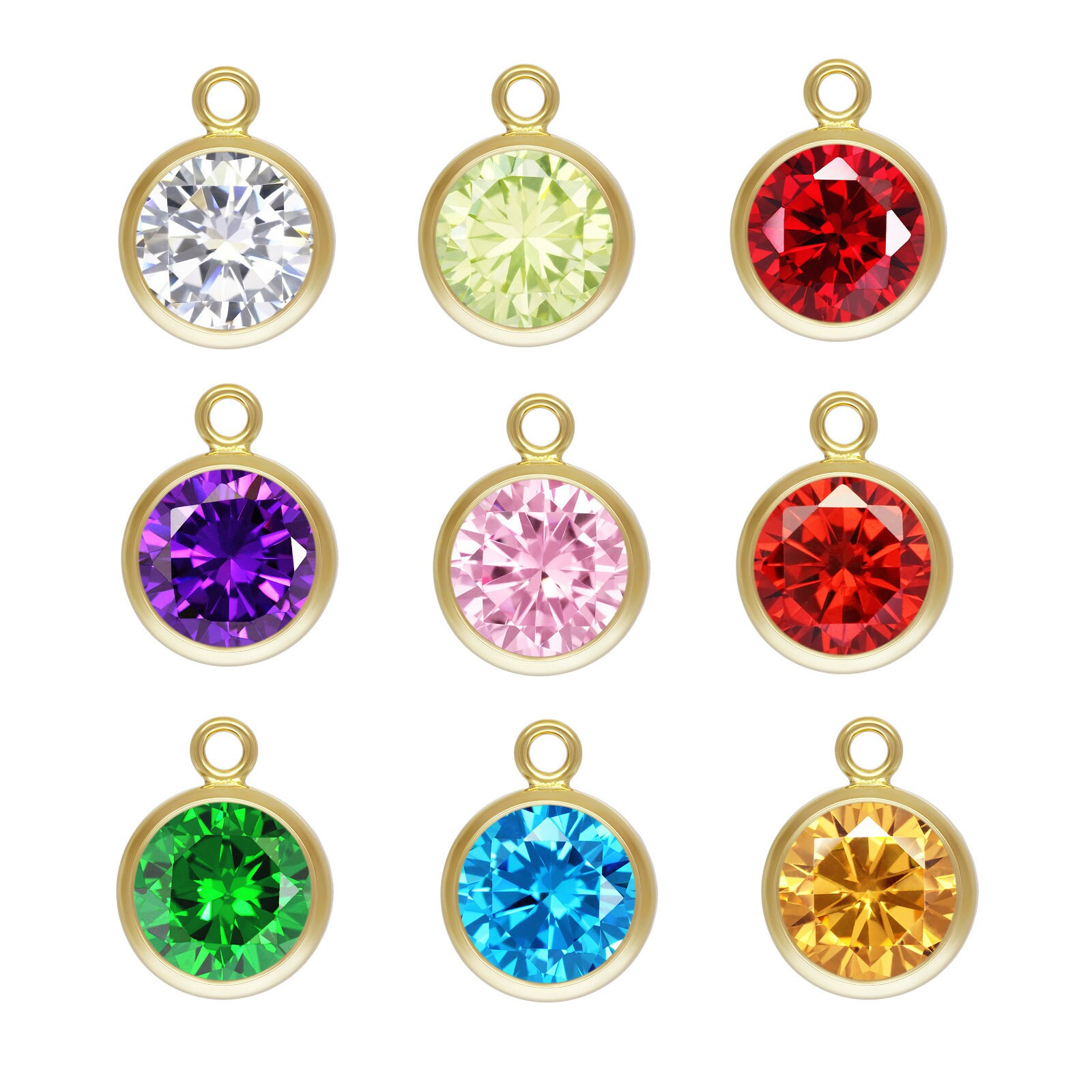 Wholesale Jewelry Gold Filled 2 Pcs 14k Gold Filled 6 0mm 3a Cz Bezel Drop 14kt Gf Bezel Charm Made In Usa Wholesale Jewelry Supply 168x6