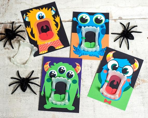 Funny Halloween Monster teeth printable Vampire glow in the dark